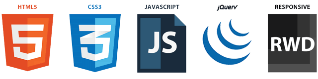 HTML5, CSS3, Javascript, jQuery, Responsive